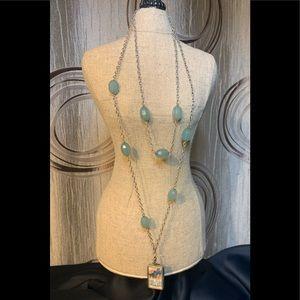 Jewel Kade Necklace Light Green Beads & Shoe Charm
